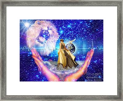 The Depth Of Gods Love Framed Print by Dolores Develde