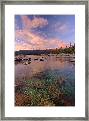 The Depths Of Sundown Framed Print