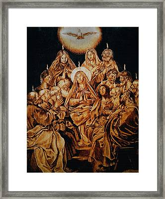 The Descent Of The Holy Spirit Framed Print by Dino Muradian