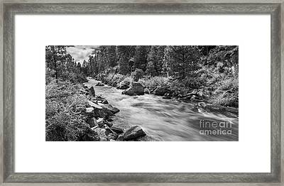 The Deschutes River Panorama Framed Print by Twenty Two North Photography