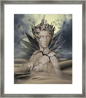 The Desert Comes Alive Framed Print by Ali Oppy