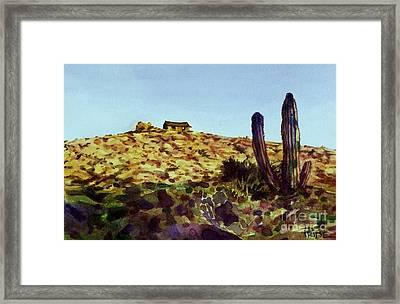 The Desert Place Framed Print