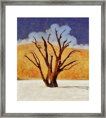 The Desert Tree By Sarah Kirk Framed Print