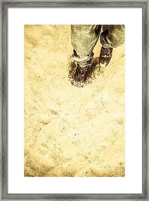 The Desert Wanderer Framed Print