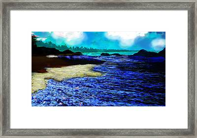 The Deserted Beach  Framed Print by Paul Sutcliffe