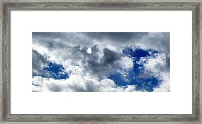 The Desert's Sky Framed Print by Cathy Kaiser