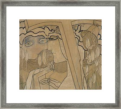 The Desire And The Satisfaction Framed Print by Jan Theodore Toorop