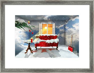 The Desire For A White Christmas Framed Print
