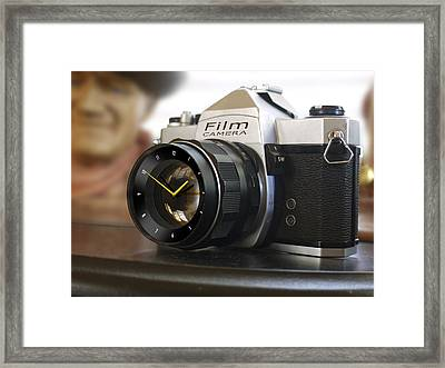 The Desk Clock Framed Print by Mike McGlothlen