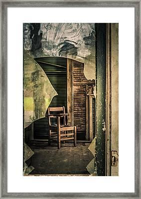 The Desk Framed Print by Phillip Burrow