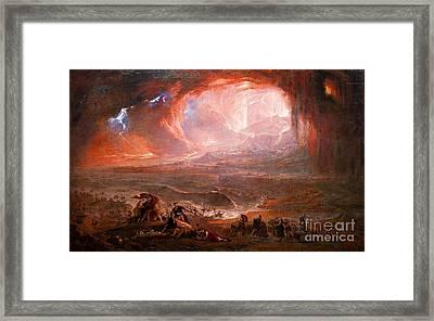 The Destruction Of Pompeii And Herculaneum Framed Print