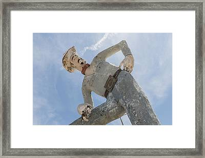 The Deteriorating Remains Of Tex Randall In The City Of Canyon Framed Print by Carol M Highsmith
