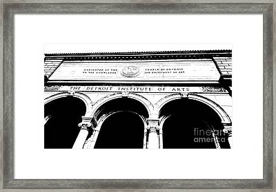The Detroit Institute Of Arts Framed Print