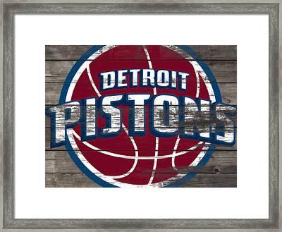 The Detroit Pistons 4f         Framed Print