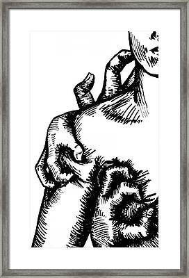 The Devil Framed Print by Dominique Rose
