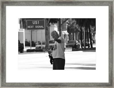 Framed Print featuring the photograph The Devil Man by Rob Hans