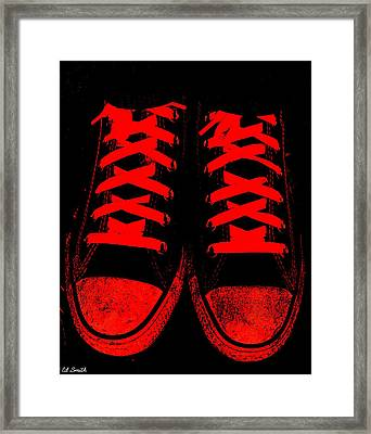 The Devil Wears Converse Framed Print