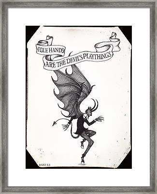 The Devil's Playthings Framed Print