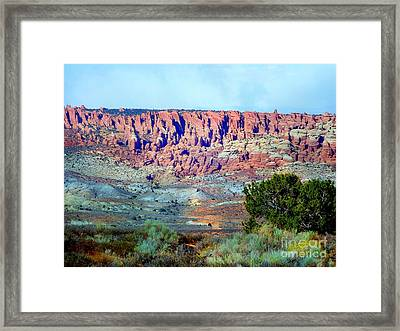 The Devil's Post Holes Framed Print by Annie Gibbons