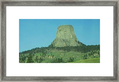 The Devils Tower Framed Print