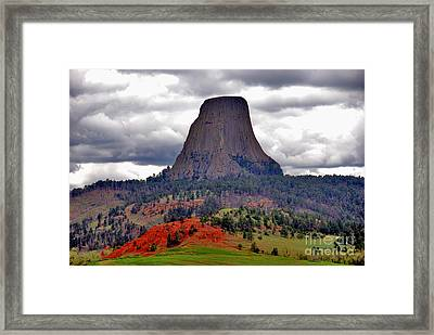 The Devils Tower Wy Framed Print