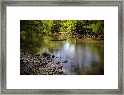 Framed Print featuring the photograph The Devon River by Jeremy Lavender Photography
