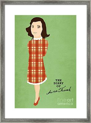 The Diary Of Anne Frank Book Cover Movie Poster Art 3 Framed Print