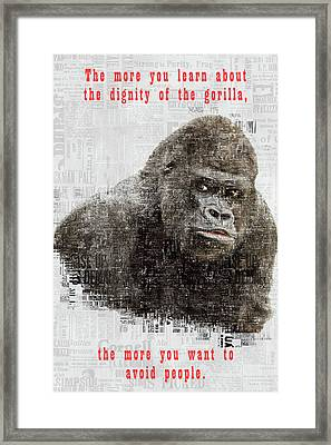 The Dignity Of A Gorilla Framed Print