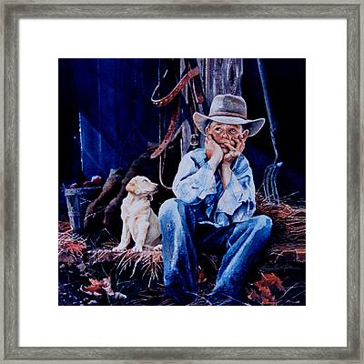 The Dilemma Framed Print