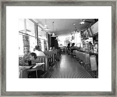 The Diner Framed Print by Wayne Potrafka