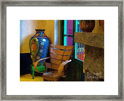 The Dining Room Corner In Frida Kahlo's House Framed Print