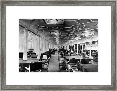 The Dining Room Of The Rms Titanic Framed Print by Everett