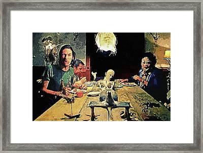 The Dinner Scene - Texas Chainsaw Framed Print