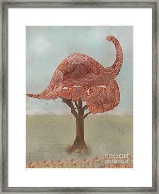 The Dinosaur Tree Framed Print