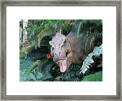 The Dinosaurs Lunch Framed Print by Rana Adamchick