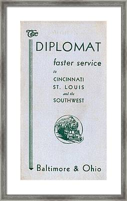 The Diplomat Framed Print