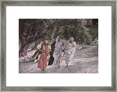The Disciples On The Road To Emmaus Framed Print