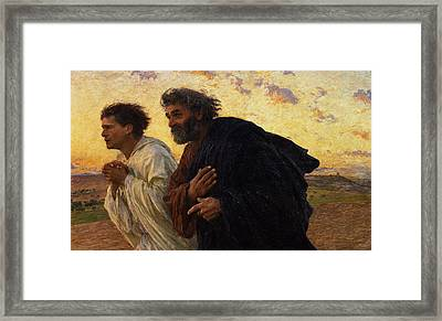 The Disciples Peter And John Running To The Sepulchre On The Morning Of The Resurrection Framed Print
