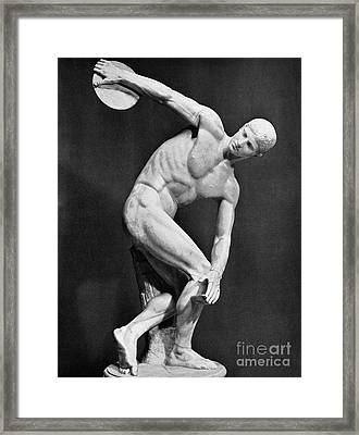The Discobolus, 450.b.c Framed Print by Granger