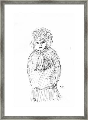 The Disgruntled Lady Framed Print