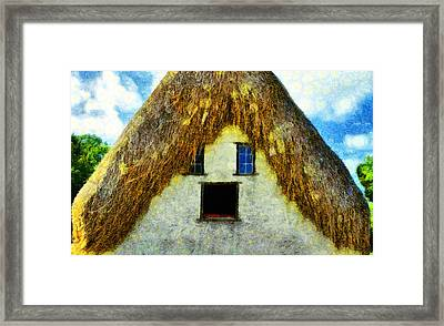 The Disheveled House - Da Framed Print by Leonardo Digenio