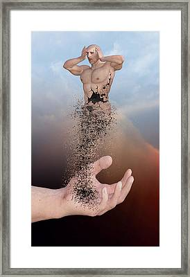 The Disintegration Of Human Values Framed Print