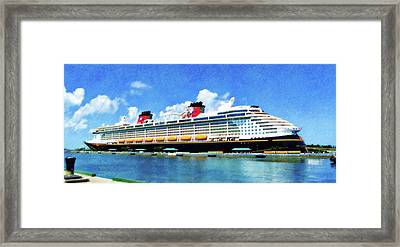 Framed Print featuring the painting The Disney Dream In Nassau by Sandy MacGowan