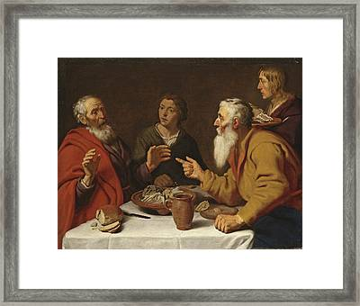 The Disobedient Prophet Framed Print by Lambert Jacobsz