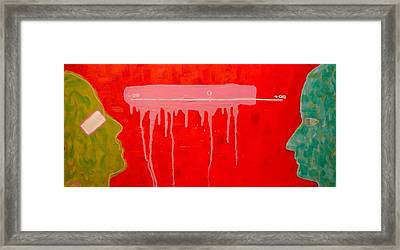 The Distance Between Me And Myself Framed Print by Ana Maria Edulescu