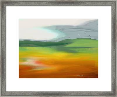 The Distant Hills Framed Print