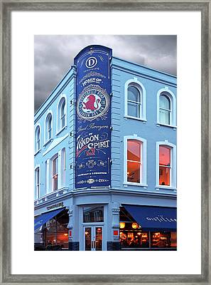 The Distillery Portobello Road London Spirit Gin House Framed Print by Gill Billington