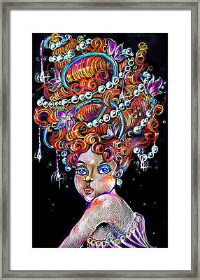 Framed Print featuring the drawing The Diva by Nada Meeks