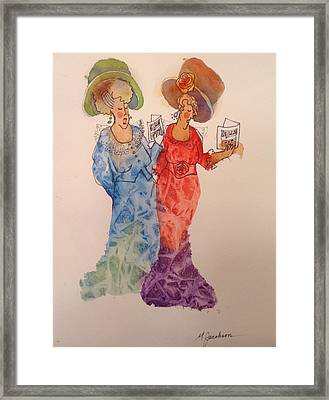 The Divas Framed Print by Marilyn Jacobson