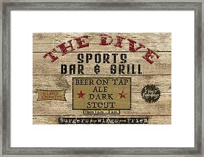 The Dive Bar Framed Print by Marilu Windvand